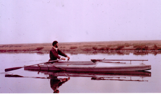 Mr Sellers (Ted) circa 1970 in a south coast type punt