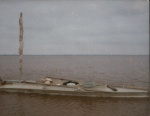 PUNT WITH MAST IN POSITION FIRST TRIP (MIDDLE OF HUMBER ESTUARY)